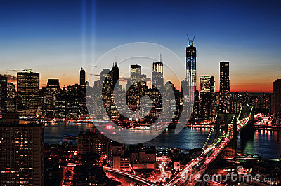 WTC 9/11 Tribute In Light Editorial Photography