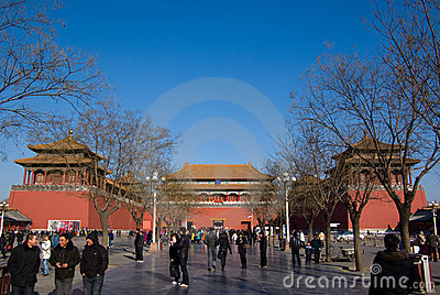 Wu men gate Editorial Image