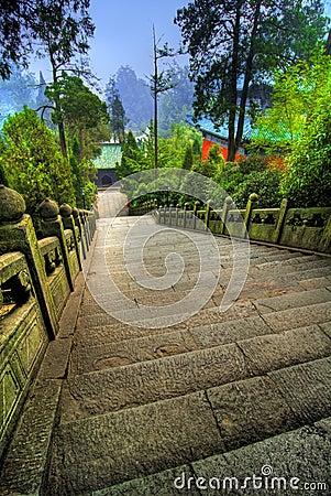 Wudang Shan Temple Walkway