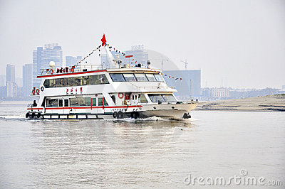 Wuhan, China: De rivier van Han Redactionele Fotografie