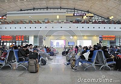 Wuhan Railway Station Editorial Photo