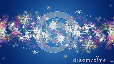 Wunderbare Weihnachtsanimation Mit Sternen Und Schneeflocken, Schleife ...