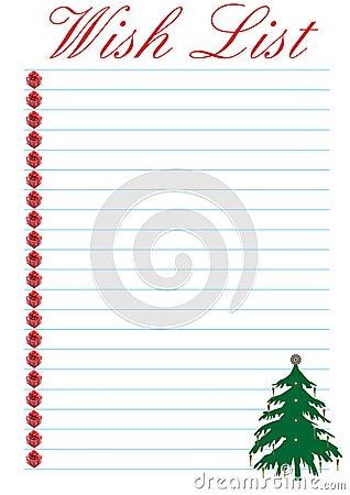 wunschzettel weihnachten stockbilder bild 6138874. Black Bedroom Furniture Sets. Home Design Ideas