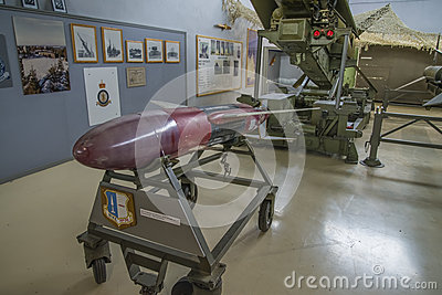 Raketengetriebenes Zieldrohne Nikes rp-76 Redaktionelles Stockbild