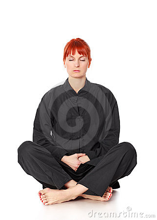 Wushu Woman Meditation