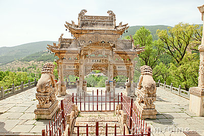 The wutai mountain temple in China