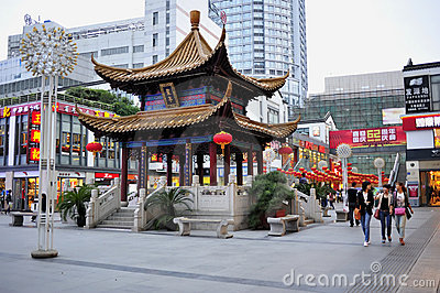 Wuxi Chongan Temple Commercial Street Editorial Image