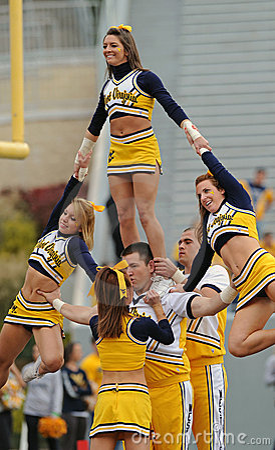 WVU cheerleaders Editorial Photography