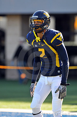 WVU receiver Bradley Starks Editorial Stock Image