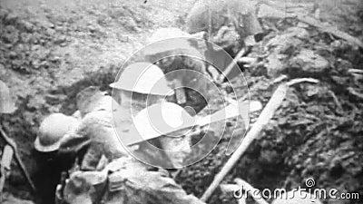 WW1 - Okopu działania wojenne montaż