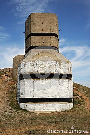 WW11 German coastal artillery bunker Guernsey