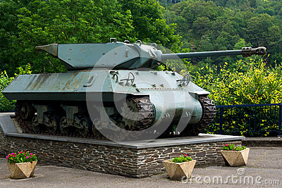 WW2 tank on display