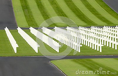 WWII american military cemetery