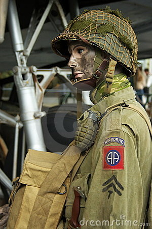 Free WWII American Paratrooper  Royalty Free Stock Photography - 5312007