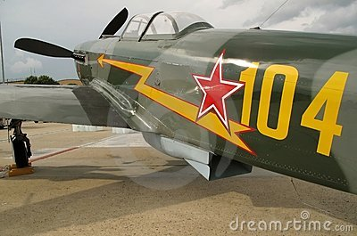 WWII Green Yak Fighter