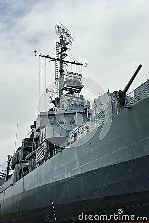 WWII U.S. Naval Destroyer