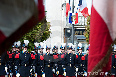 WWII Victory Day Tribute in France Editorial Photo