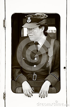 WWII WAAF Female in uniform Editorial Photography