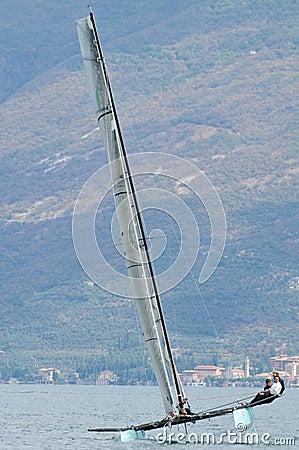Www.112-team.com wins the 50 miglia 2012 regatta Editorial Stock Image