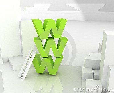 Www 3D text Editorial Photography