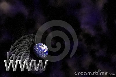 WWW et fond de logo de la terre