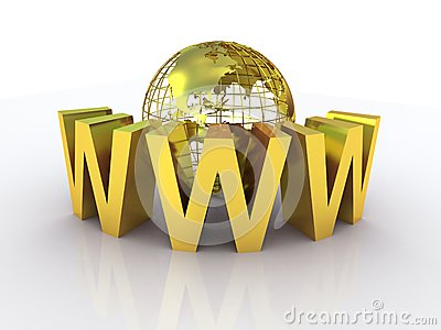 WWW and globe gold