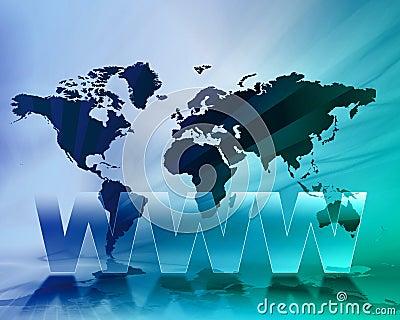 WWW World map background