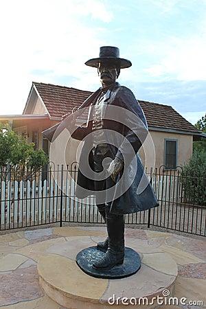 Free Wyatt Earp`s Statue In Tombstone, Arizona Stock Photos - 92407663