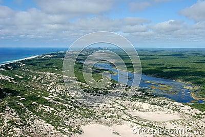 Wybrzeża południowej afryce Mozambique tropikalny