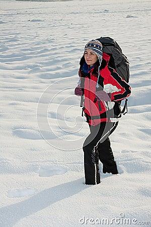 Wycieczkowicza śnieg