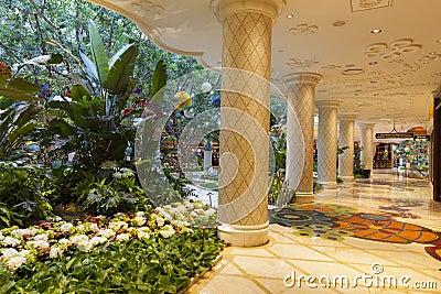 Wynn hotel Interior in Las Vegas, NV on August 02, 2013 Editorial Image