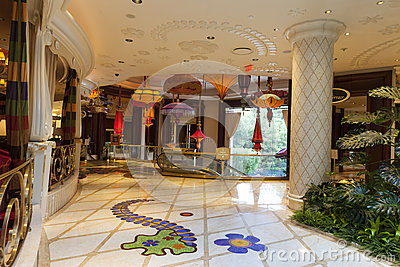 Wynn hotel Interior in Las Vegas, NV on August 02, 2013 Editorial Image