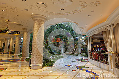 Wynn hotel Interior in Las Vegas, NV on August 02, 2013 Editorial Stock Image