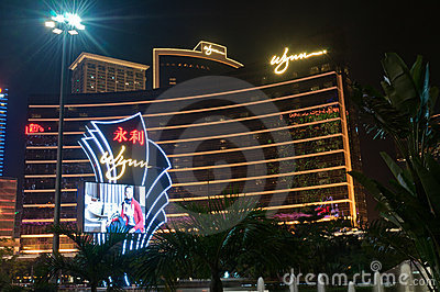 Wynn Hotel in macao Editorial Photography