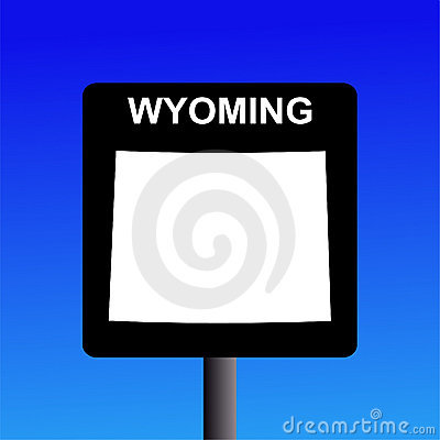 Wyoming highway sign