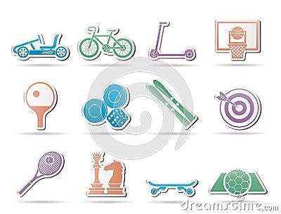 Wyposażenia ikon przedmiotów sporty