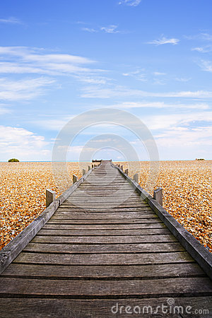 Wyrzucać na brzeg boardwalk bagna otoczaka romney