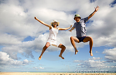 Wysoka plażowa zabawa jak miłość