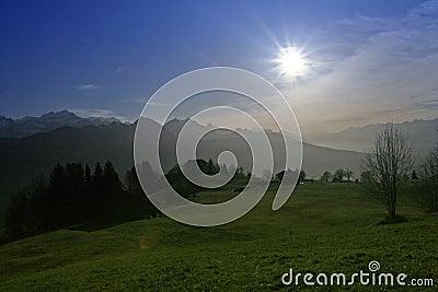 Wysokogórski słońce