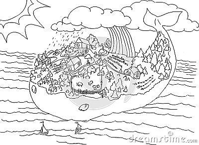 Wyspa (1) wieloryb