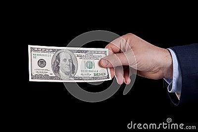 Wystawia rachunek dolara sto jeden