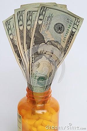 Wystawia rachunek dolarowe pigułki