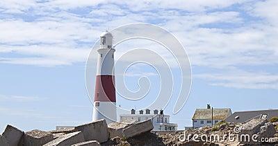 Wystawia rachunek Dorset latarnię morską England Portland