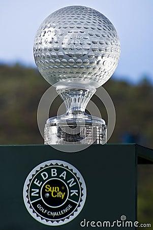 Wyzwania miasta golfa nedbank ngc2010 słońca trofeum Zdjęcie Editorial