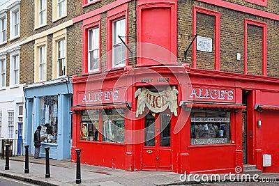 Wzgórze London notting Fotografia Editorial