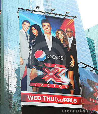 X Factor Billboard Advertising. Editorial Stock Photo