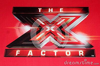 X logotipo do fator na RAPOSA Imagem Editorial