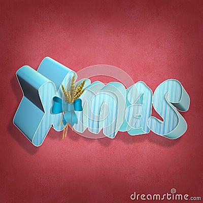 X-mas 3D text