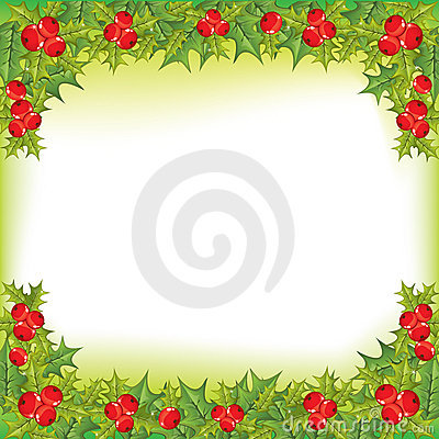 X-mas holly berry  frame