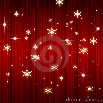 X mas red curtain background
